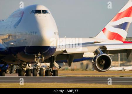 Boeing 747 British Airways - Stock Photo