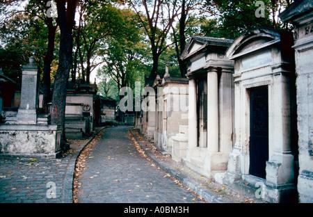 Friedhof Pere Lachaise Paris Frankreich - Stock Photo