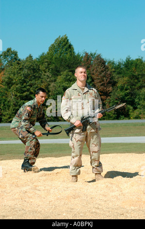 Army airborne rangers fighting during military demonstration Taccoa Stock Photo, Royalty Free ...