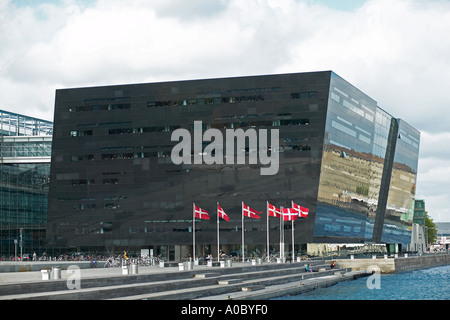 'Black Diamond' Royal Library extension building, Copenhagen, Denmark - Stock Photo