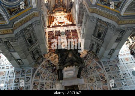 Saint Peters Basilica Vatican City from Duomo - Stock Photo