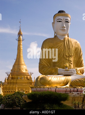 Stock photograph of the Shwezigon Paya in central Monywa in Myanmar 2006 - Stock Photo