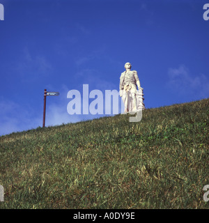 Monument to Lord Collingwood at Tynemouth UK - Stock Photo