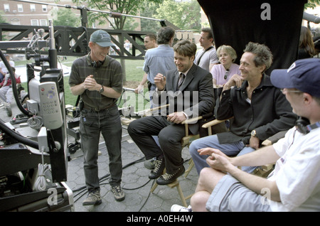BEAUTIFUL MIND poster for 2001 Universal film with Russell Crowe seated centre - Stock Photo