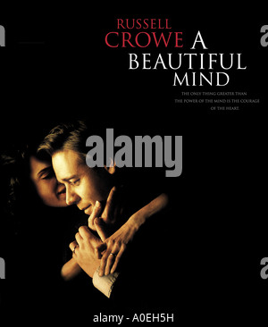 BEAUTIFUL MIND poster for 2001 Universal film with Russell Crowe - Stock Photo