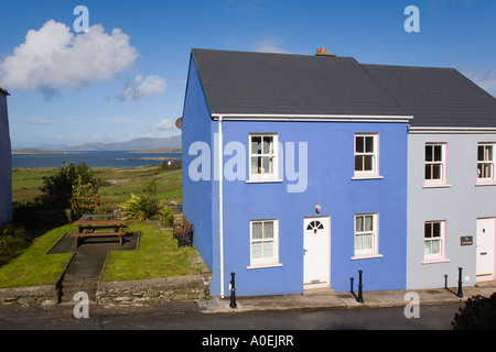Eyeries Co Cork Eire Ireland Colourful traditional house in village on Ring of Beara - Stock Photo