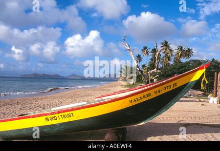 Pinneys Beach in Nevis - Stock Photo