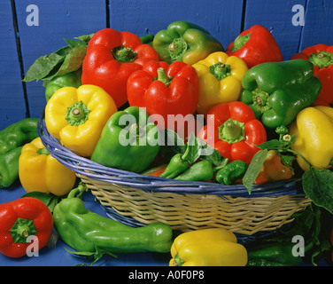 Assorted peppers - Stock Photo