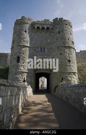 Stock photograph of Carisbrooke Castle Newport Isle of Wight - Stock Photo