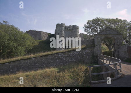Carisbrooke Castle Newport Isle of Wight - Stock Photo