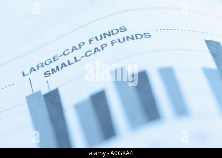 Closeup of financial bar graph - Stock Photo