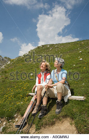 Female hikers - Stock Photo