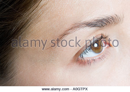 Close up of a womans eye - Stock Photo