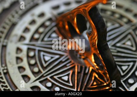 Sun Dial brass decorative - Stock Photo