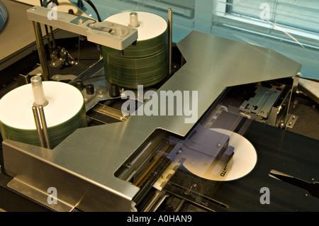 On Body CD DVD inkjet printing - Stock Photo