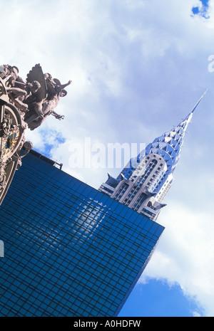 USA New York City Midtown Manhattan Chrysler Building Hyatt Hotel Grand Central Station - Stock Photo