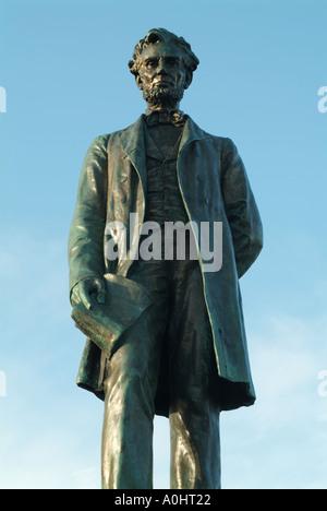 Statue of Abraham Lincoln in Old Calton Cemetery, Edinburgh, Scotland, UK. - Stock Photo