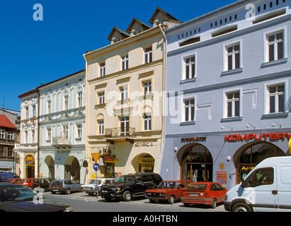Beautiful buildings on Main Market Square in Przemysl Poland - Stock Photo