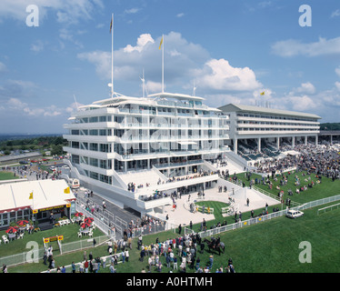 Stand at Epsom Racecourse Surrey UK aerial view - Stock Photo