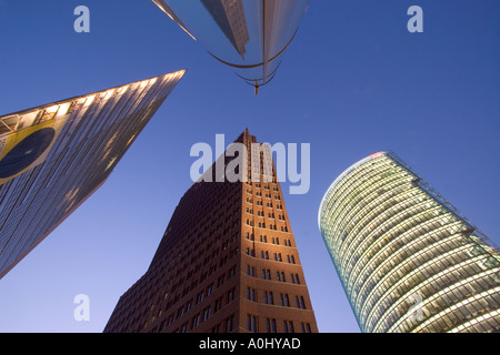 Berlin Mitte Potsdamer Platz Daimer modern architekture - Stock Photo