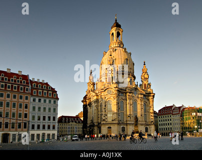 Frauenkirche (Church of Our Lady) Dresden, Saxony, Germany - Stock Photo