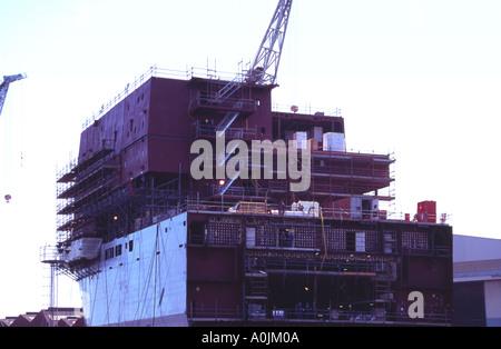 RFA supply ship under construction BAE Systems glasgow cylde side scotland - Stock Photo