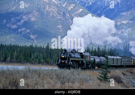 Steam Train in the Rockies 4 - Stock Photo