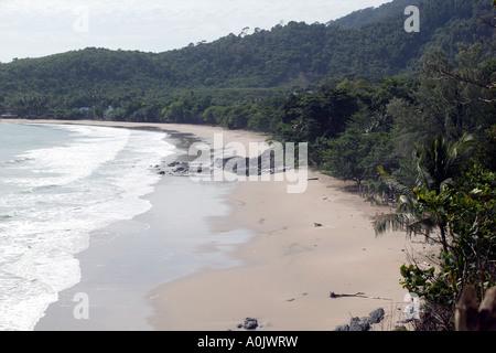 Coastal view of the beach Koh Lanta Yai Ko Lanta Yai This island was hit by the Tsunami in 2004 - Stock Photo