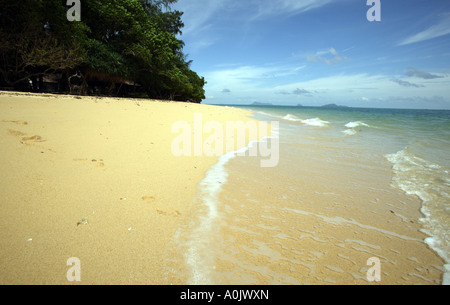 A quiet beach on the island of Bu Bu in Southern Thailand This is one of the smallest islands and has no inhabitants - Stock Photo
