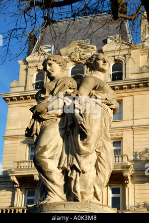 Statue of two women Cambridge Terrace Regents Park London NW1 England - Stock Photo