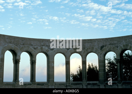 Roman style arches, El Valle De Los Caídos (Valley of the Fallen), Madrid, Spain - Stock Photo