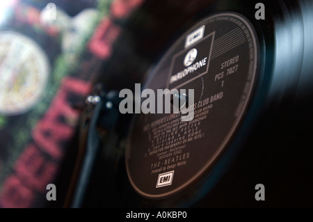 Beatles Sgt Pepper Lonely Hearts Club Band Album - Stock Photo