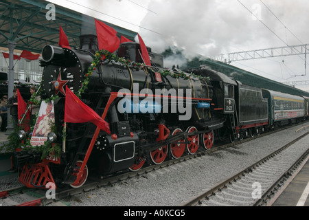 Engine of the time of World War II , Victory Day, May 2005, Moscow, Russia - Stock Photo