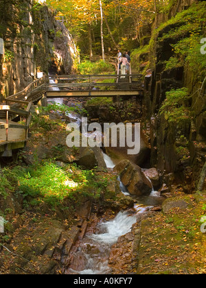 The Flume, Franconia Notch in the White Mountains of New Hampshire - Stock Photo