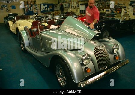 Morgan Plus Four  +4  Car hand built manufacture in Malvern Link, Worcestershire, England - Stock Photo