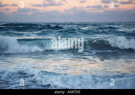 Wild surf on empty deserted beach dsca 0516 - Stock Photo