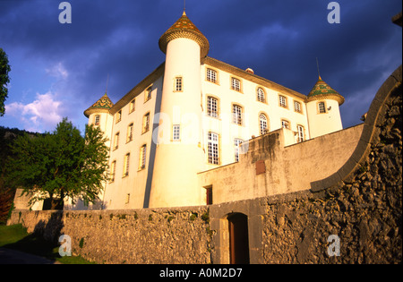 Aiguines 17th Century French Castle In Provence France - Stock Photo