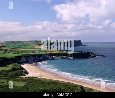 GB - NORTHERN IRELAND: White Park Bay on the Antrim Coast - Stock Photo