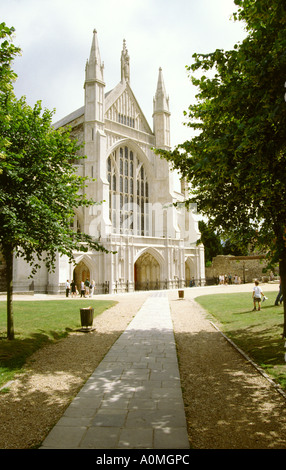 Hampshire Winchester Cathedral - Stock Photo