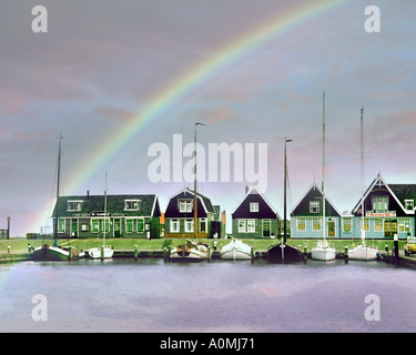 NL - NOORD HOLLAND: The Harbour at Marken - Stock Photo