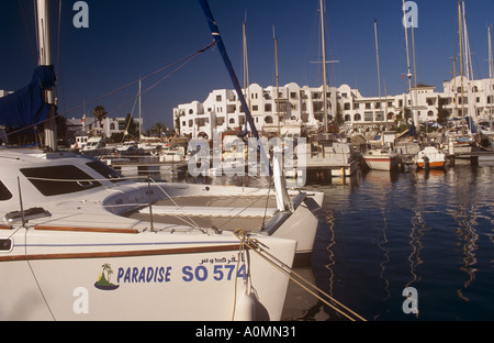 Port el Kantaoui Marina Sousse Tunisia - Stock Photo