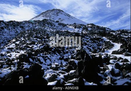 Mount Pico del Teide summit landscape in Teide National Park Tenerife Canary Islands Spain - Stock Photo