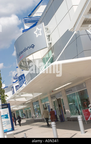 Superdrug store at Gallions Reach Shopping Park Beckton Newham East London GB UK - Stock Photo