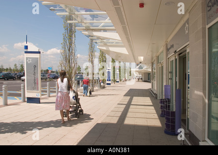 Gallions Reach Retail Shopping Park Beckton Newham East London UK - Stock Photo