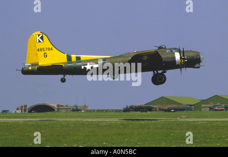 Boeing B-17G Flying Fortress 'Sally B' taking off. - Stock Photo