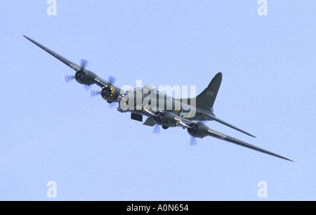 Boeing B17G Flying Fortress Sally B Flypast Coventry Airport Display - Stock Photo