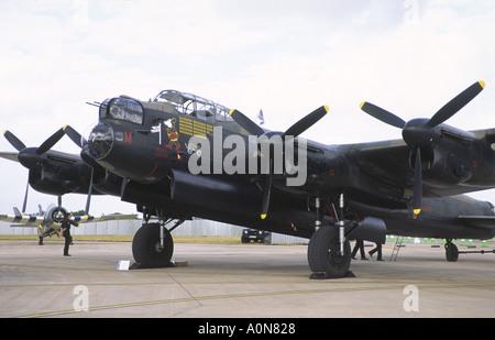 Avro Lancaster Battle Of Britain Memorial Flight RAF Fairford Air Tattoo - Stock Photo