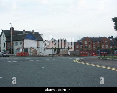 Demolition work at Jolly Sailor Pub August 2005 4 - Stock Photo
