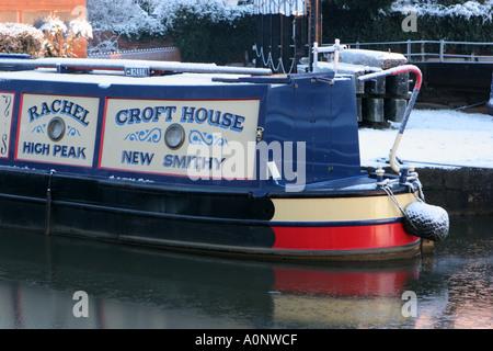 Barge Bridgewater Canal Worsley Salford UK - Stock Photo