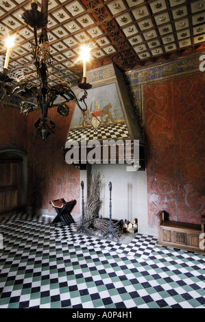 Turin one of the rooms of the Borgo Medioevale in the Valentino parque - Stock Photo